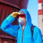 Покраска дымовых труб в Одессе подготовка